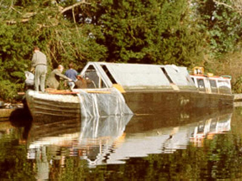 QUEEN - afloat again at Denham Deep, March 20th 1994. Port bow looking aft.