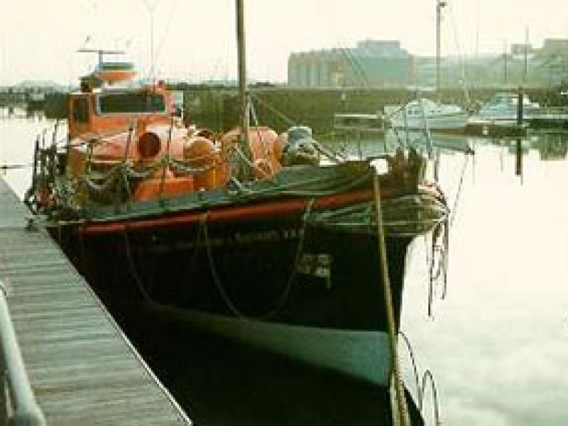 WILLIAM GAMMON - alongside quay at Swansea. Starboard bow looking aft.