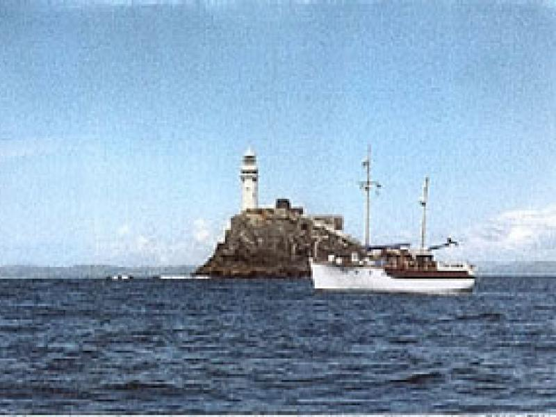 Trevora  at sea, port side view