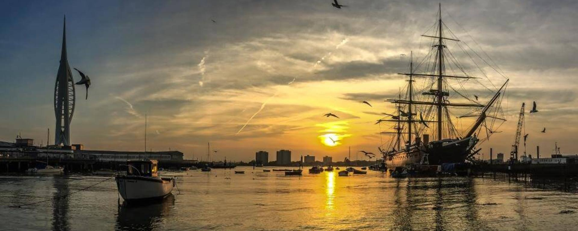 Sunset HMS Warrior