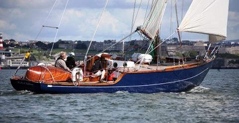 Huff of Arklow under sail (c) Classic Yacht Brokerage