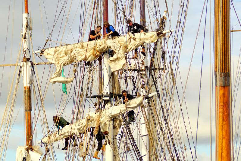 Making Ready To Sail 'The Tres Hombres', by Peter Hunt