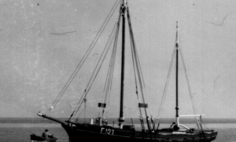 Speedwell - on her mooring off Whitstable