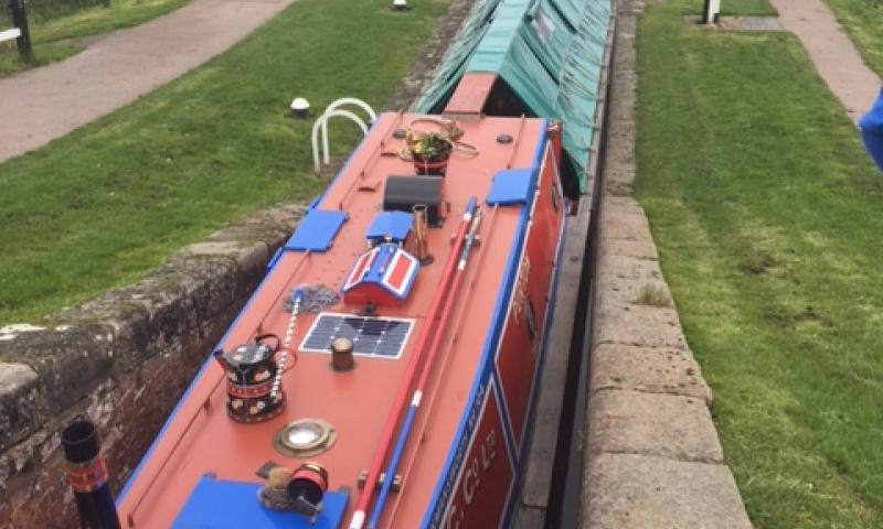Purton - aerial view at a lock