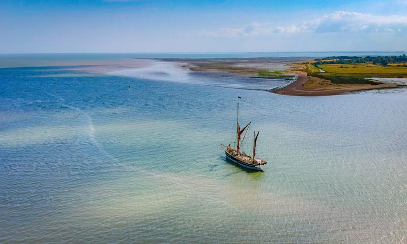 Photo Comp entry 2018 (C) - Cambria anchored on the Colne, by Colm O'Laoi