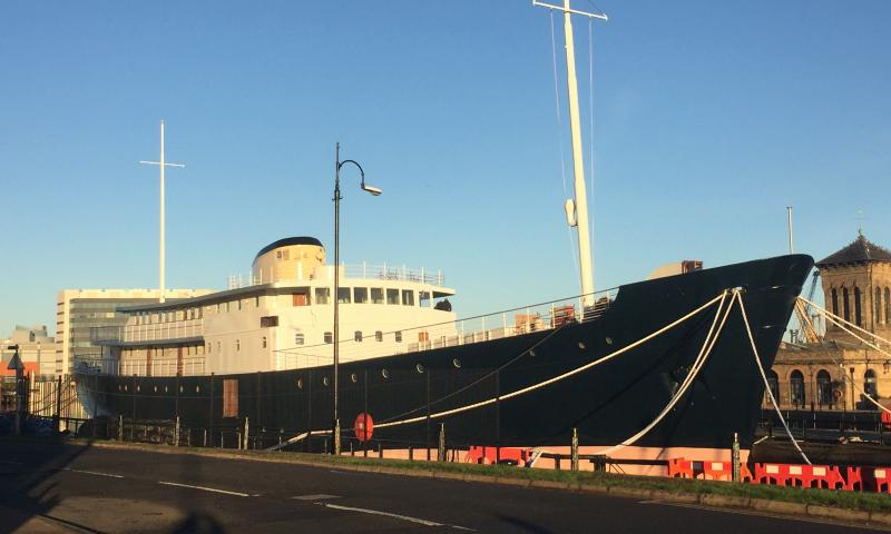 MV Fingal - nearing completion of luxury hotel - Nov 18