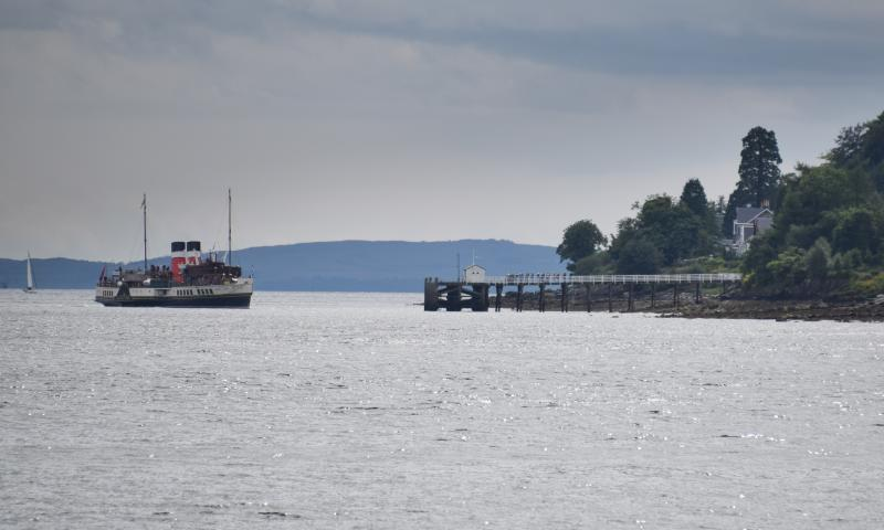 Photo Comp 2018 entry - Clyde Cruising - Traditional Piers and Traditional Ships - PS Waverley arriving at Blairmore, by Russell Anley