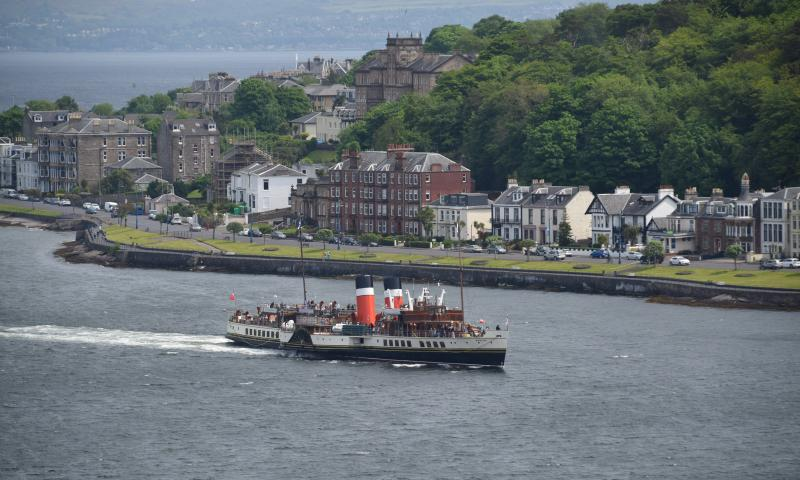 Photo Comp 2018 entry - PS Waverley arriving in Rothesay, by Russell Anley