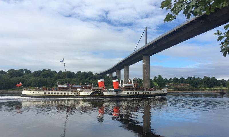 Photo Comp 2018 entry - PS Waverley passing Erskine Bridge, by Graeme Phanco