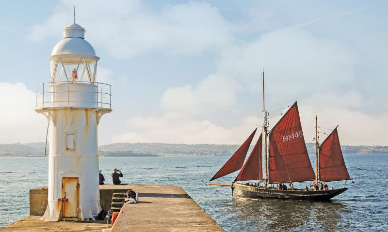 Photo Comp 2018 entry - Pilgrim of Brixham passing Brixham Lighthouse, by Steve McMillan