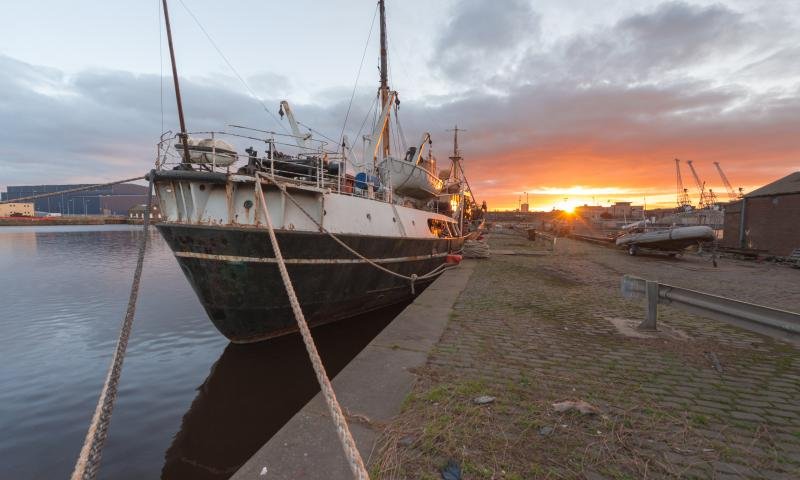 Photo Comp 2018 entry - SS Explorer Sunset, by Colin Williamson