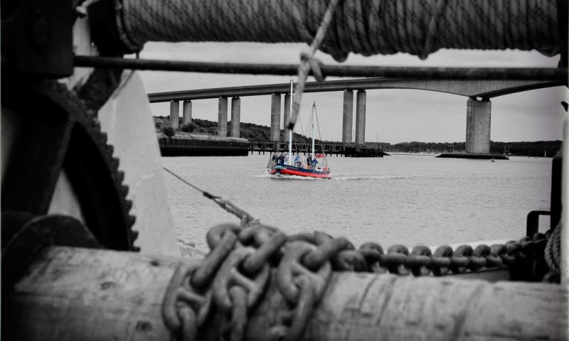 Photo Comp 2018 entry - the James Stevens No.14 going past the sail barge kitty, by Jason Arthur