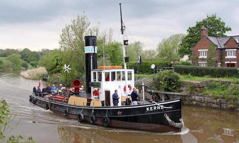 Photo Comp 2018 entry - Steam tug Kerne on the Weaver 17th May 2013, by John Eyres