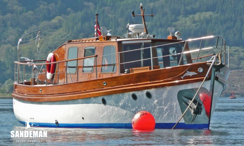 Delfino on mooring at Rhu