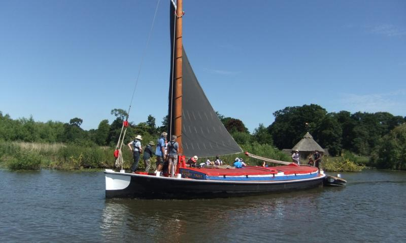 Photo Comp 2018 entry - Wherry Albion on the River Bure, by David Milham