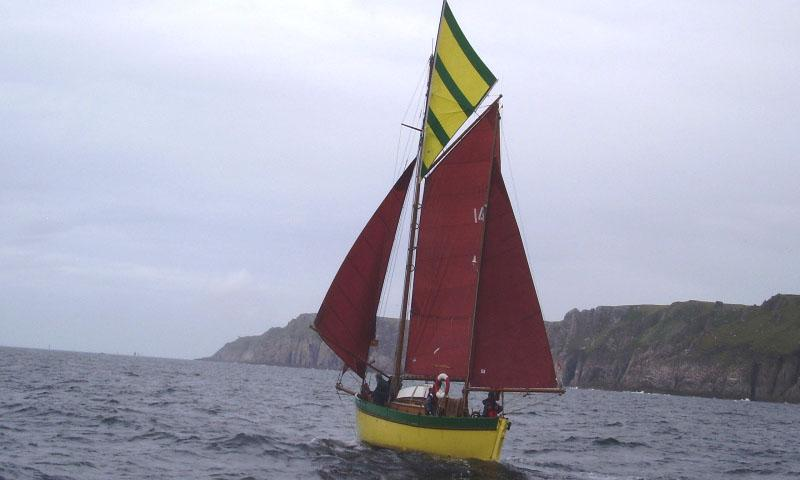 Rawanah - under sail during Lundy race