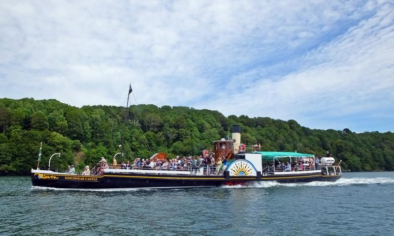 Kingswear Castle - underway