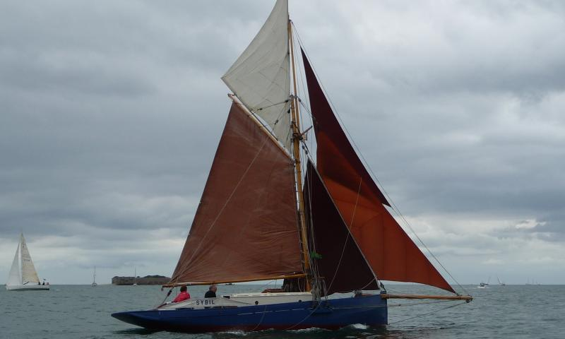 Sybil of Wivenhoe - tacking flying jib
