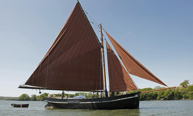 Lynher under sail