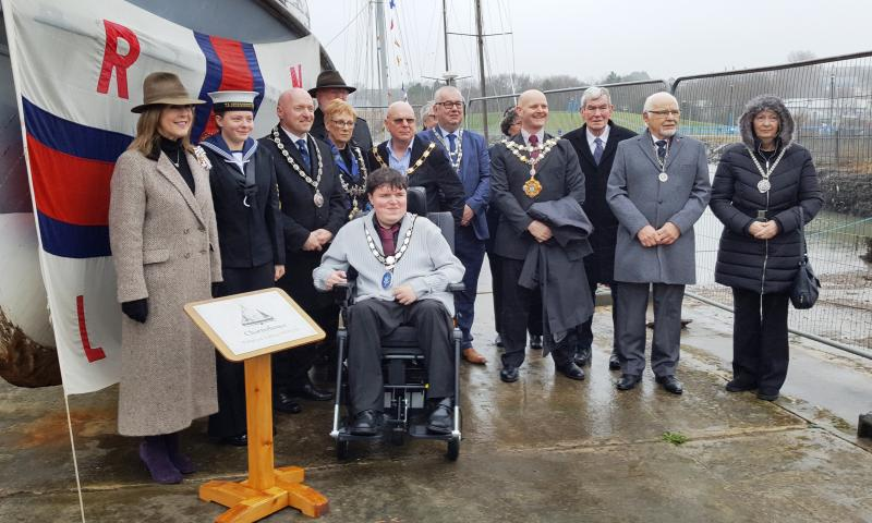Charterhouse was officially welcomed to the West Wales Maritime Heritage Museum by the Lord-Lieutenant of Dyfed Ms Sara Edward
