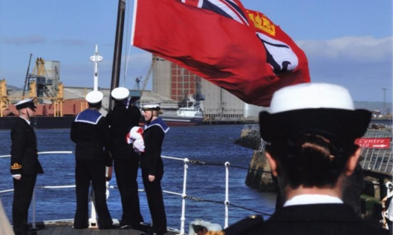 HMS Caroline - flying ensign