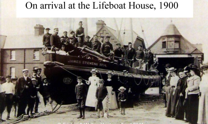 On arrival at the Lifeboat House 1900
