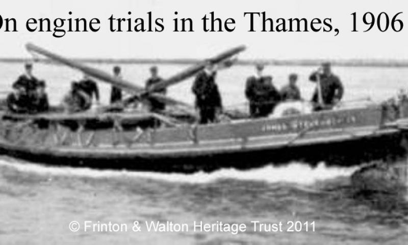 Engine trials on the Thames 1906
