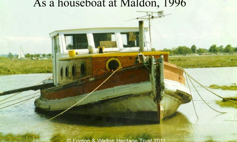 As a houseboat at Maldon 1996