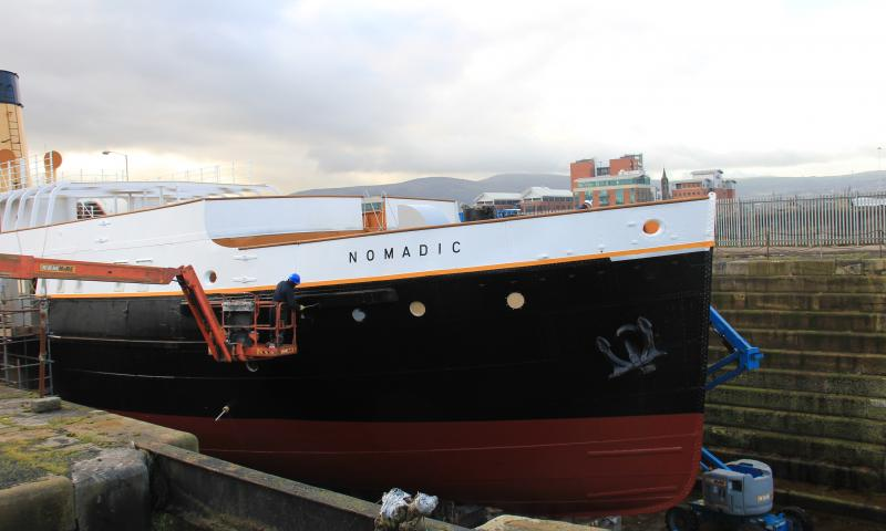 SS Nomadic - starboard bow