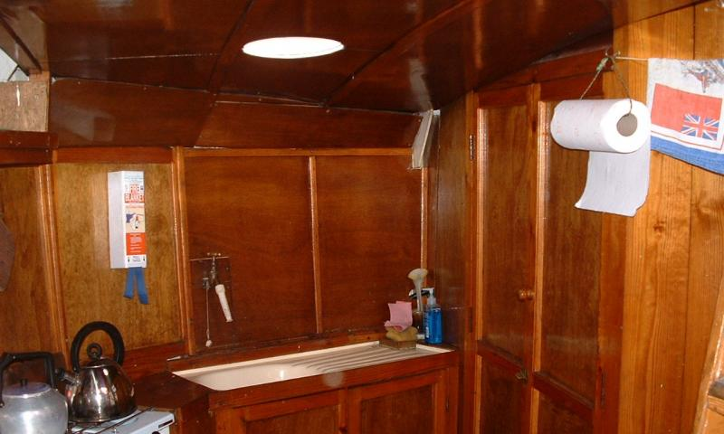 Interior of Amy Howson - galley