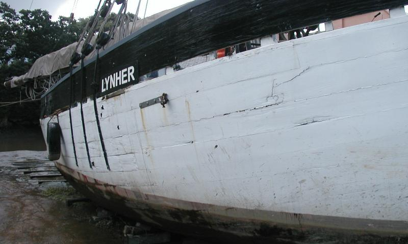 Lynher out the water - starboard side