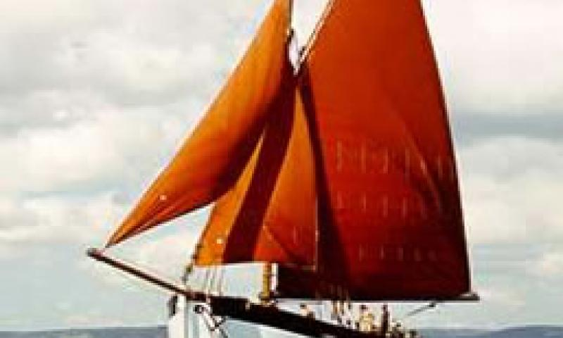 LYNHER - under sail in 1998. Port bow.