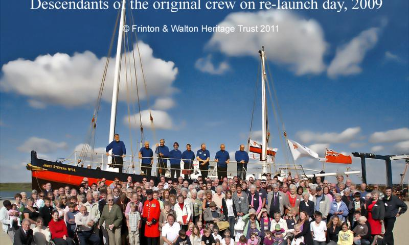 James Stevens No. 14 - descendants of the original crew on re-launch day 2009