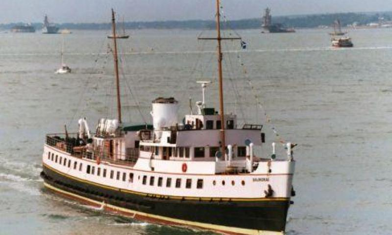 Balmoral - underway, starboard bow view