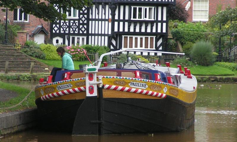 Pauline - stern view, Calder and Hebble Keel, Worsley (photo comp entry)