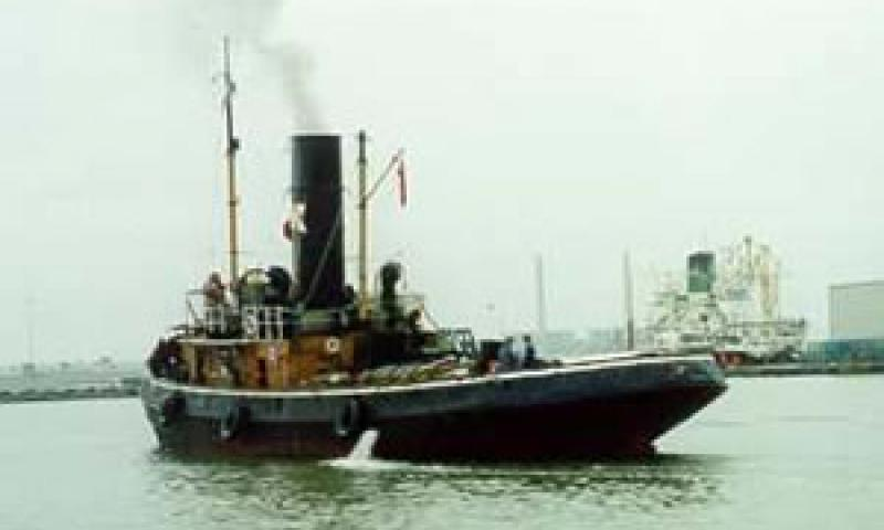 CHALLENGE - first re-steaming in 1995.  Stern view.