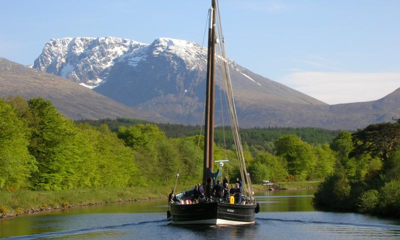 Reaper - in the Caledonian Canal with Ben Nevis - May 2009 (Photo comp entry)