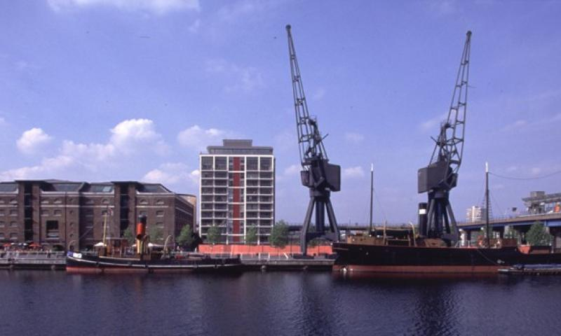 Robin in West India Dock, 2005
