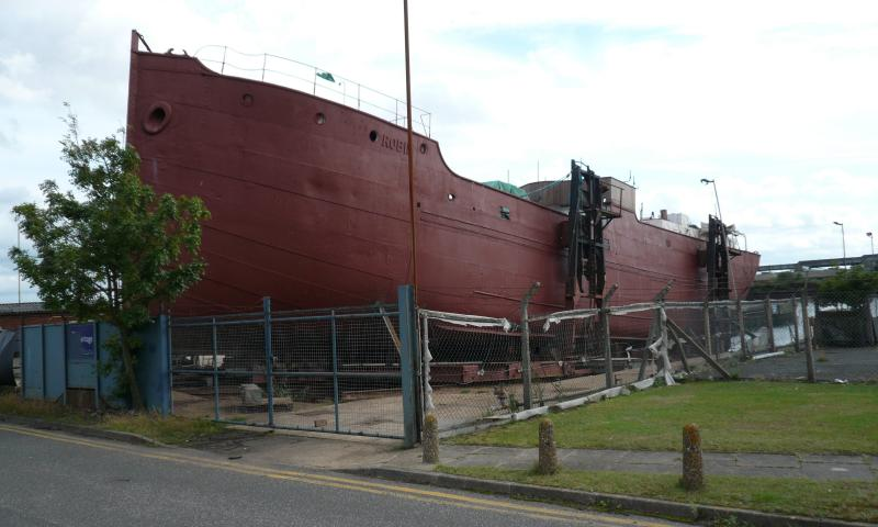 Robin being restored in Lowestoft, 2008