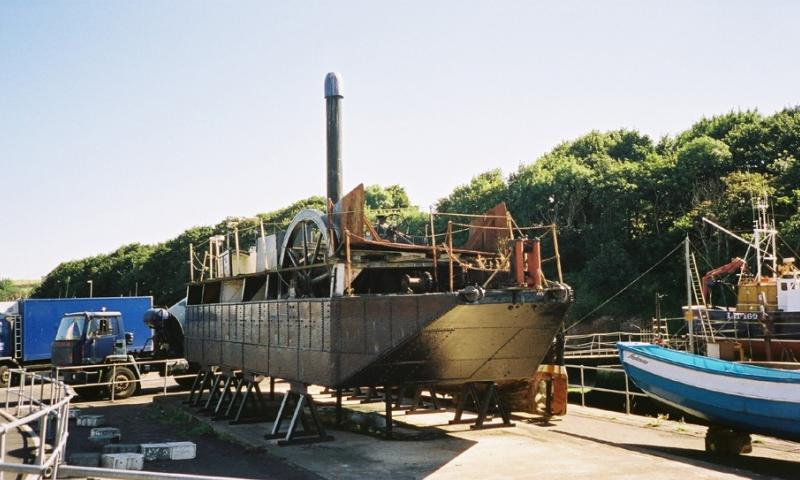 Bertha out of the water