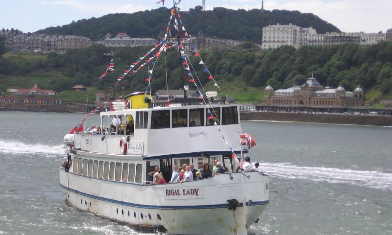 Regal Lady approaching the entrance to Scarborough harbour