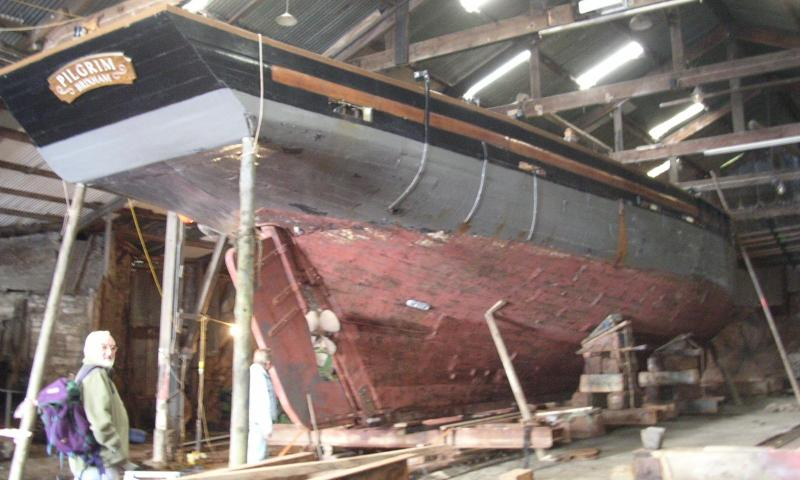 Pilgrim - out the water, stern view