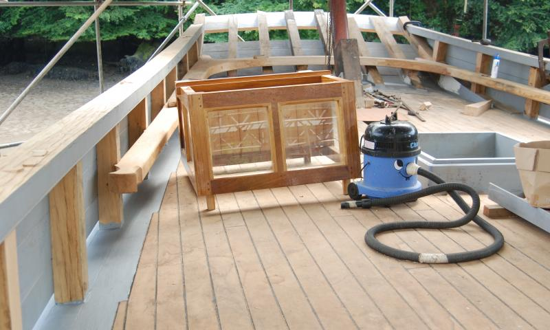 Pilgrim - restoration of deck before relaunch Aug 2011