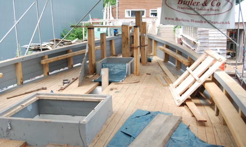 Pilgrim - restoration of deck before relaunch at end of Aug 2011
