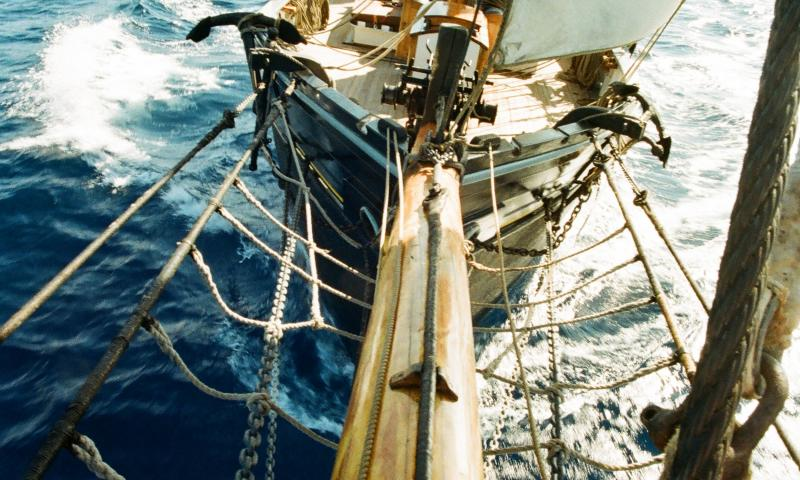 West Country Trading Ketch 'Bessie Ellen' in blue water off Tenerife. - Photo Comp 2011 entry
