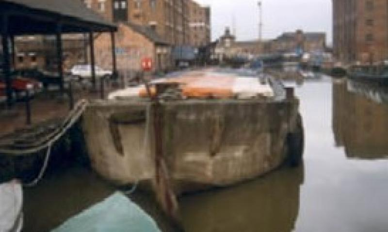 FCB 56 - in Gloucester Docks. Stern looking forward.