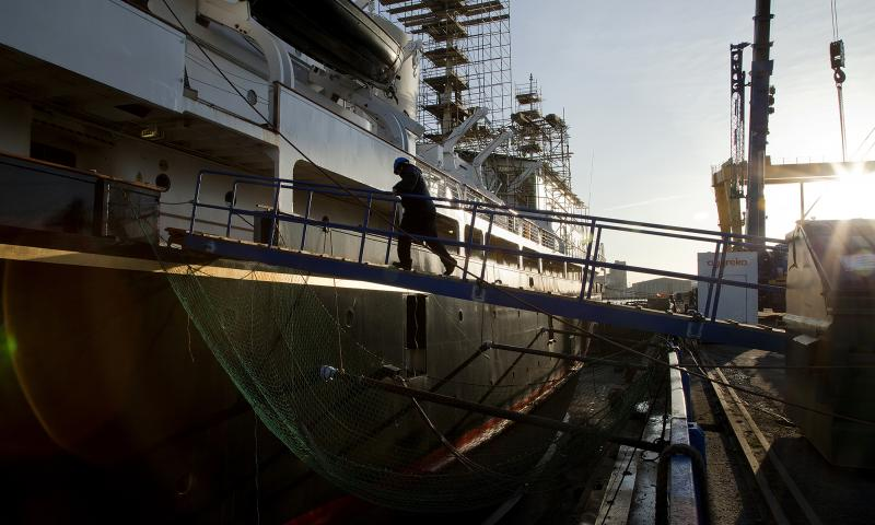 Photo Comp 2012 entry: RY Britannia - in dry dock