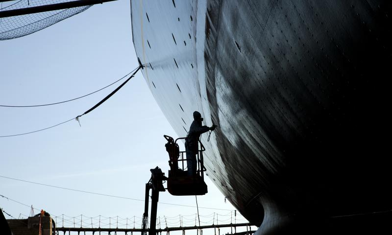Photo Comp 2012 entry: RY Britannia - in dry dock3