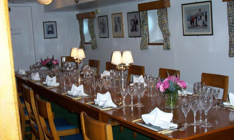 Royal Yacht Britannia - dining saloon