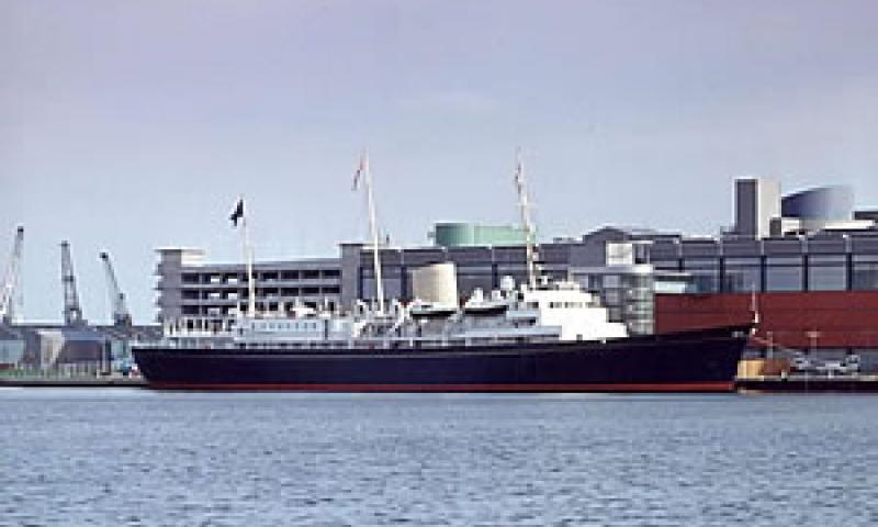 Royal Yacht Britannia in Leith - starboard side